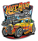 route 66 diners - Hot Rod Diner Route 66 Classic Car Racing Auto T-Shirt Tee