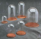 """New 5.5"""" x 10"""" Glass Display Dome and Base of Your Choice (GLD-510)"""