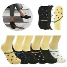 Men Solid Invisible No Show Nonslip Loafer Boat Low Cut Cotton Socks One Size
