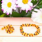 BALTIC AMBER ADULT NECKLACE  RAW MULTICOLOR, PAIN RELIEVE, ANTI INFLAMMATORY