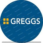 GREGGS LOGO Edible Icing / wafer paper / card Cake & Cupcakes Toppers