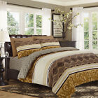 100% Egyptian Cotton Duvet Cover Bedding Sets With Fitted Sheet & Pillow Cases