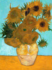 Sunflowers by Vincent Van Gogh, Giclee Canvas Print, in various sizes