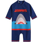 Baby Kids Girls Boys 1 Piece Shark Dinosaur Short Sleeve U V Rash Guad Swimsuit