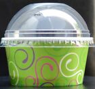 Ice Cream Tubs CUPS with LIDS, SPOONs Yogurt Sweet Pick and Mix Party GREEN 80ML for sale  Shipping to Ireland