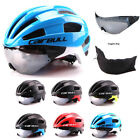 Men Safety Cycling MTB Mountain Road Bike Bicycle Cap Helmets Visor Lens Goggles