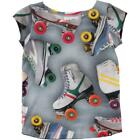 BNWT Girls Molo Robinette Roller Skating T-shirt NEW Cotton Skate Top