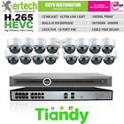 Tiandy 2MP H.265 POE Mic 8/10/12/14/16 IP Camera CCTV Kit Bundle Security System