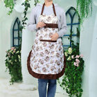 Retro Women Lady Dress Chef Kitchen Cooking Floral Bow Knot Apron With Pocket