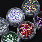 6 Boxes Nail Art Glitter Powder 3D Holographic Chameleon Sequins Nails Flakes
