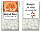 56 Mint to Be Peach Rose Wedding Anniversary Favor Tic Tac Labels Stickers