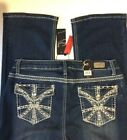 Earl Jean Size12 Slim Boot Stud Embellished Flap Pocket Jeans NWT's