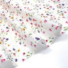 Dotted Swiss Fine Lawn - Delicate Multi Sprig on White - 100% Cotton Fabric Ligh