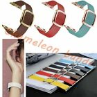 Genuine Leather Magnetic Closure Wrist Band Strap For Apple Watch iWatch 38 42 image