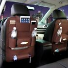 PU Leather Travel Car Seat Back Organiser Waterproof iPad Holder Table Foldable9