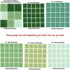 "50 - 3/4"" Venetian Green Glass Mosaic Tiles for your Project (Pick you Group) #1"