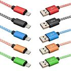 3 Ft Strong Braided USB Data Sync Charging Cable Cord Lead For iPhone iPad iPod
