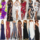 Women Holiday Boho Off Shoulder Long Dress Floral Maxi Beach Party Ball Sundress