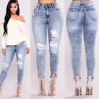 Women High Waist Skinny Tight Long Jeans Pencil Stretch Deni