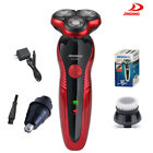 GoldRed Rotary 3D Rechargeable Washable Mens Cordless Electric Shaver Razor US