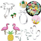 Cute Flamingo Pineapple Stainless Steel Cookie Cutter Baking Mold Kitchen Tool