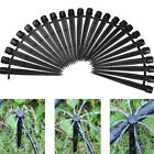 200pcs Adjustable Water Flow Irrigation Drippers on Stake Emitter Drip System JG