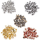 Two Piece Double Cap Tubular Rivets Leather Craft and Clothing Repair - 100Pcs