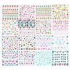 2 Sheets Nail Water Decals Flamingo Watermelon Mermaid Nail Art Transfer Sticker