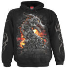 SPIRAL DIRECT KEEPER OF THE FORTRESS Hood/Dragon/Wizard/Flame/Biker/Unisex/Top