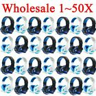 LOT 1~50PCS Gaming Headset Surround Stereo Headband Headphone USB 3.5mm W/LED MG