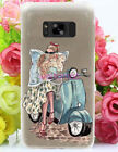 for Samsung Galaxy S5 S6 S7 S8 S9 Luxury Fashion Travel Girl Design Phone Case