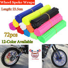 72X Wheel Spoke Wraps Skins Coat Trim Cover Pipe Dirt Bike Motocross Motorcycle