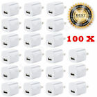 lot White 1A USB Power Adapter AC Home Wall Charger US Plug FOR iPhone 5S 6 7 8