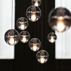 Modern Clear Bubble Crystal Ball Pendant Lamp G4 LED Cafe Bar Ceiling Light