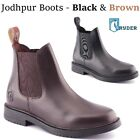 Ryder Adults Short Horse Leather Riding Boots Jodhpurs Boots Black Brown Sizes