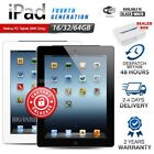Factory Sealed APPLE iPad 4th Gen Black White 16 32 64GB Retina PC Tablet WiFi