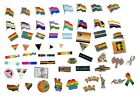 Gay Pride Enamel Lapel Pins Badges Rainbow Leather Bear Flag LGBT Ally Wholesale image