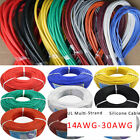 14/16/18/20/22/24/26/28/30awg Ul Strand Wire Silicone Flexible Cables Coloured