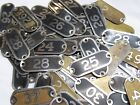 Внешний вид - You Pick # 1-49 BRASS NUMBER Seating Locker Basket Drawer TAGS PLATE Type 9 9A