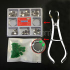 100 Dental TOR VM Sectional Contoured Matrice Matrix Ring +40 Add-On Wedge+Plier