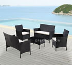 5-piece Rattan Garden Table Chair Furniture Set Variety Of Colours Cover Option