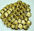 20MM MILITARY STYLE GOLD BLAZER BUTTONS WITH CROWN MOTIF