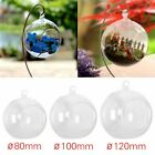8/10/12CM CLEAR HANGING GLASS BAUBLE SPHERE BALL CANDLE TEA LIGHT HOLDER GARDEN