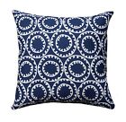 Ring a Bell Navy Blue Outdoor Geometric Decorative Throw Pillow
