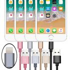 6FT Tangle-Free Metal Braided USB Data Sync Charge Cable Lead For iPhone & iPad