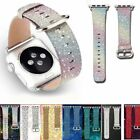 Glitter Bling Leather Watch Band Strap Buckle Wrist For Apple Watch 38/42mm image