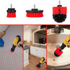 3Pcs Window Floor Carpet Cleaning Drill Brush Round Tile Grout Scrubber Wide