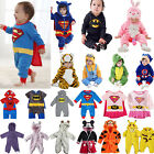 Baby Girls Boys Cartoon Superhero Animal Romper Playsuit Outfits Set Sleepwear