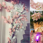 Artificial Cherry Blossom Branch Fake Silk Flower Tree Simulate Plant Home Decor