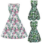 spring prom dress - 2018 New Spring Summer Women Floral Swing Dress Party Prom 50'S Dress S-3XL